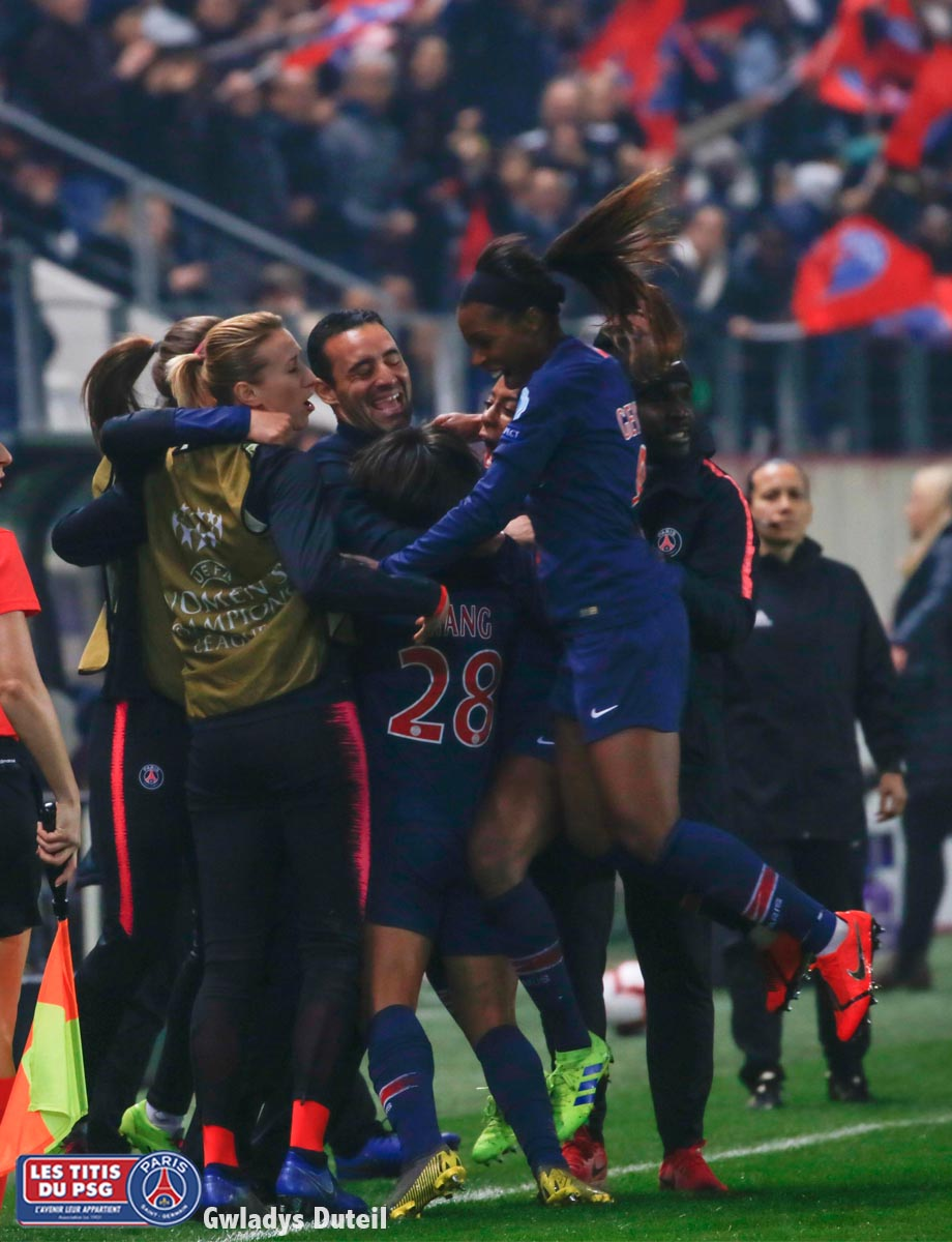 Match des Titis Girls en quart de finale de la ligue des champions