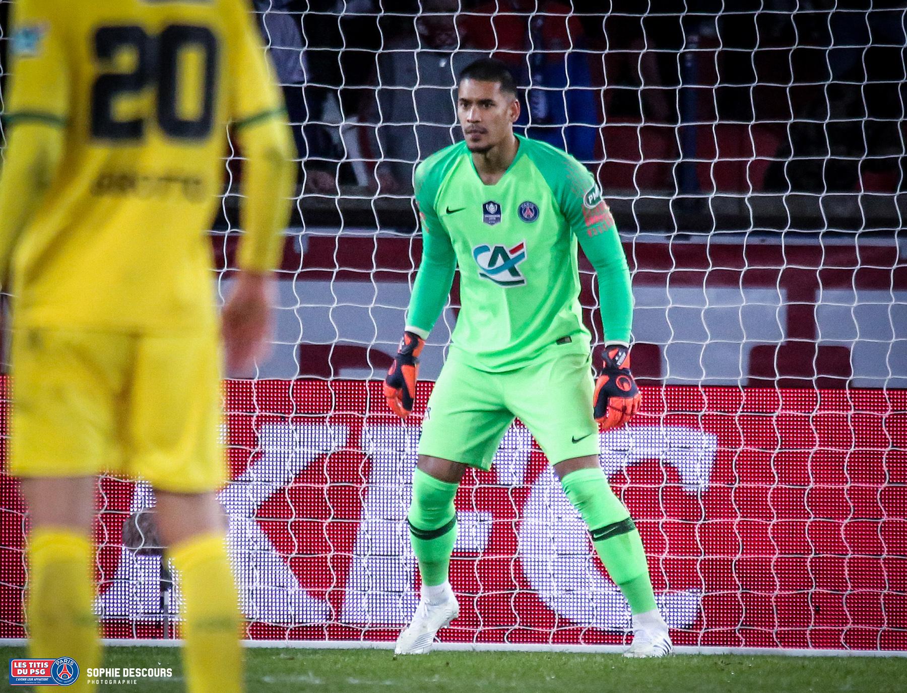 Alphonse Areola pendant la demi finale de la coupe de France PSG-FC NANTES