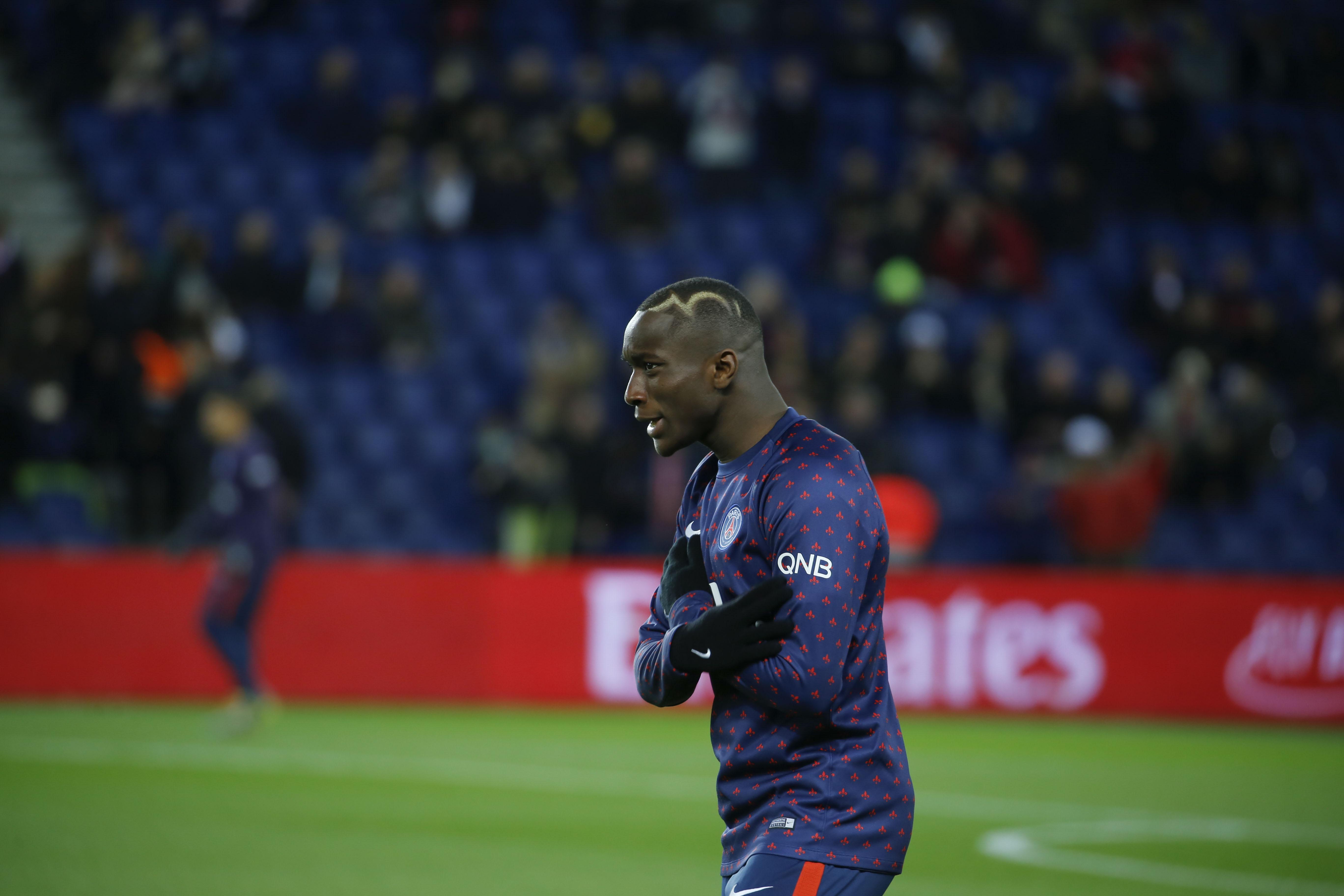 Moussa Diaby allier gauche pendant le match PSG-OM le 17/03/2019