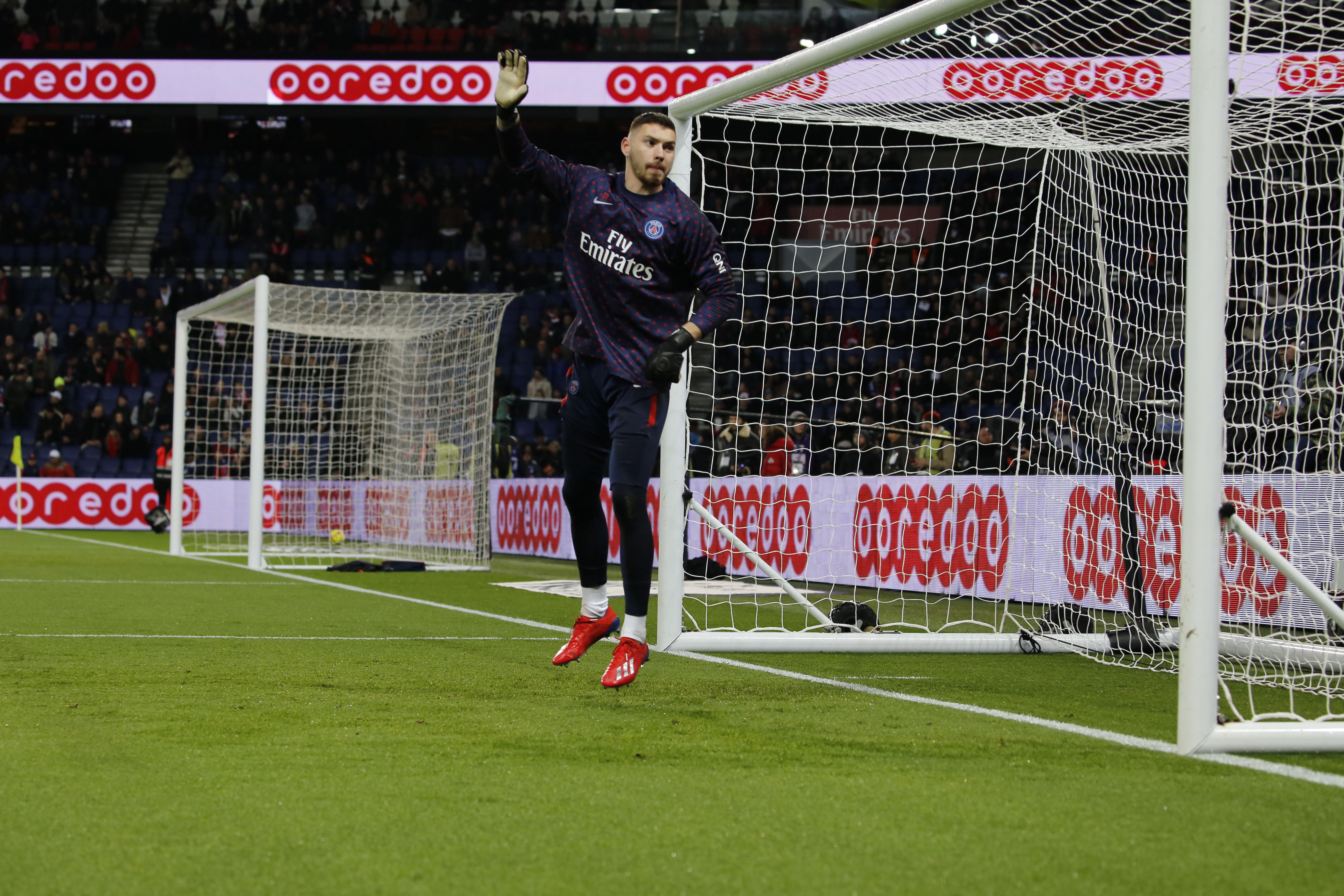 Sébastien Cibois gardien pendant le match PSG-OM le 17/03/2019