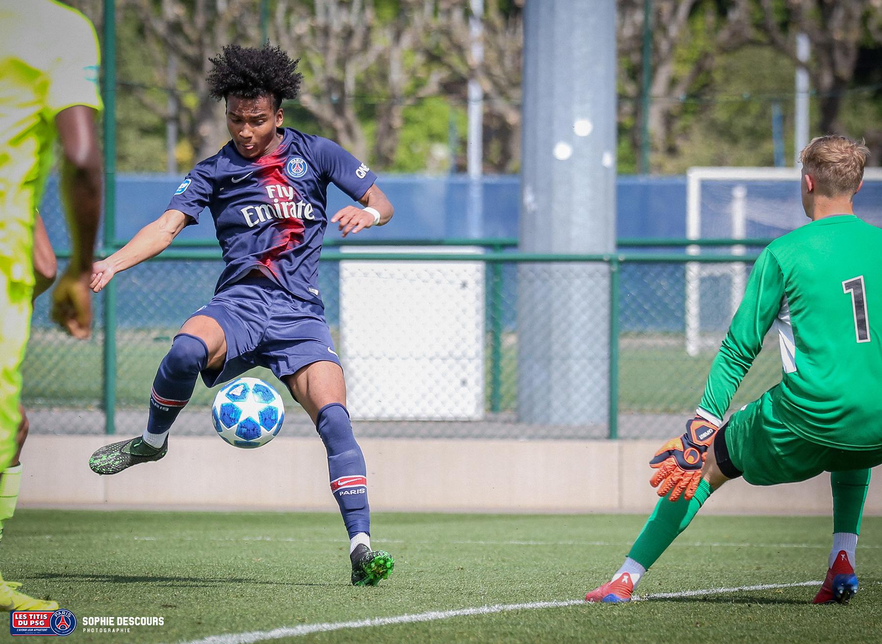 Ruben Providence attanquant U19 pendant le match PSG-LOSC le 21/04/2019