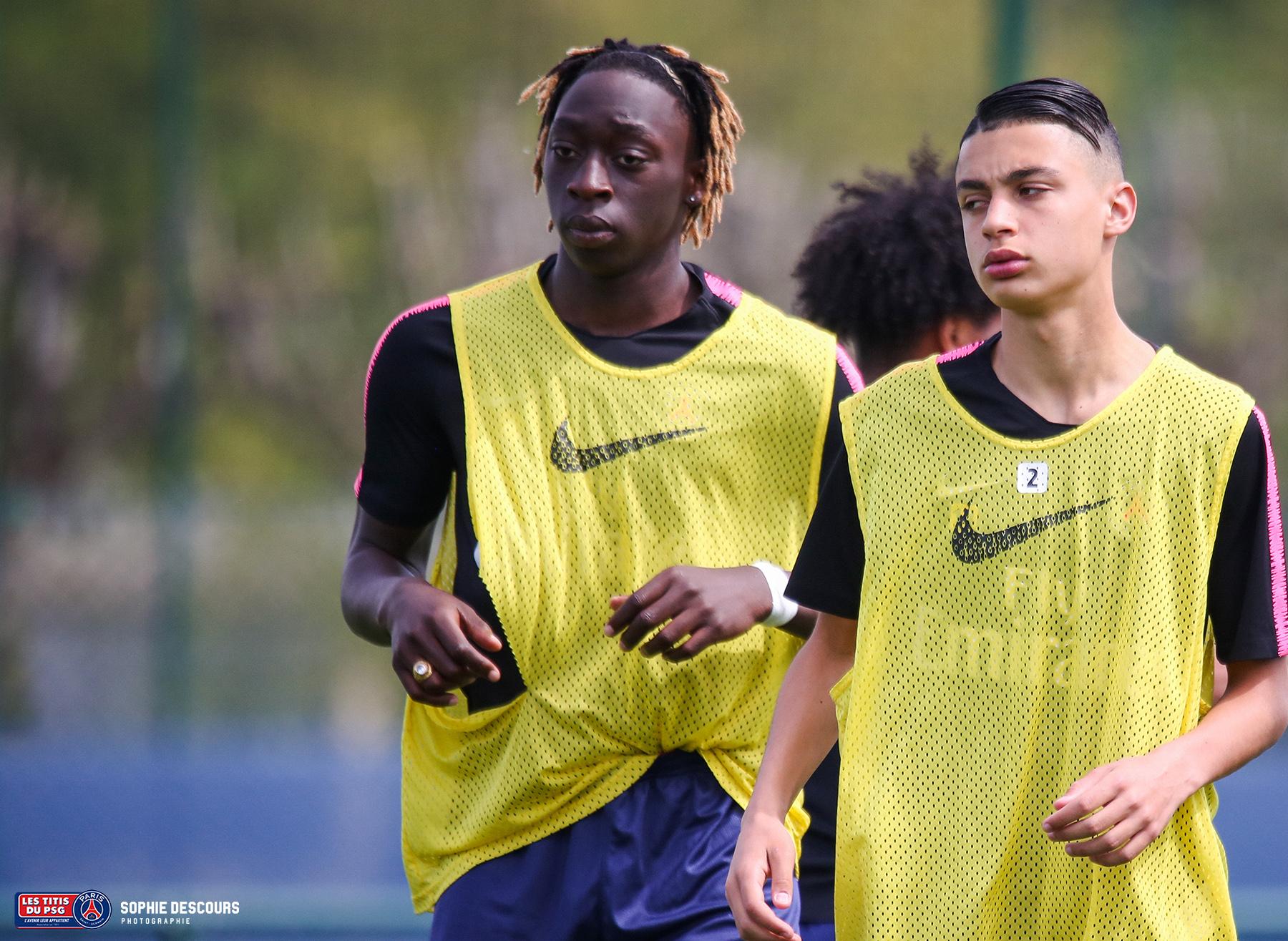 Tanguy Coulibaly attaquant U19 pendant le match PSG-LOSC le 21/04/2019