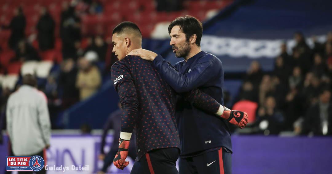 Alphonse Aréalo gardien pendant le match PSG-OM le 17/03/2019