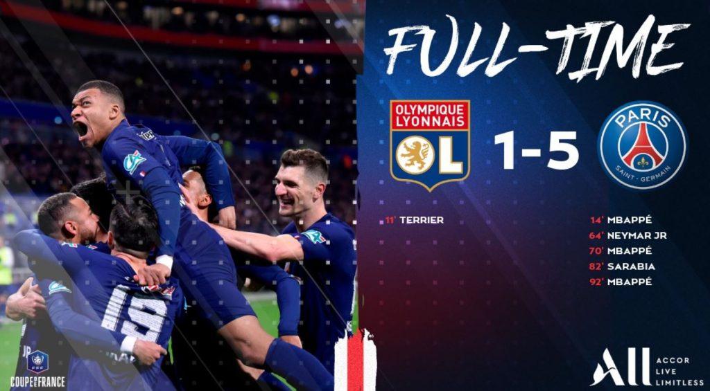 Statistiques de Olympique Lyonnais et PSG